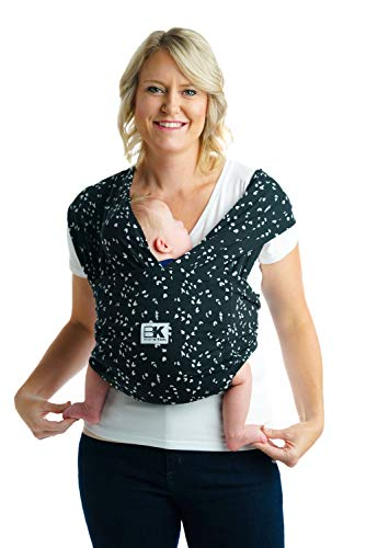 Baby K'tan Print Baby Wrap Carrier, Infant and Child Sling - Simple Wrap Holder for Babywearing - No Rings or Buckles - Carry Newborn up to 35 lbs, Sweetheart, M (W Dress 10-14 / M Jacket 39-42)