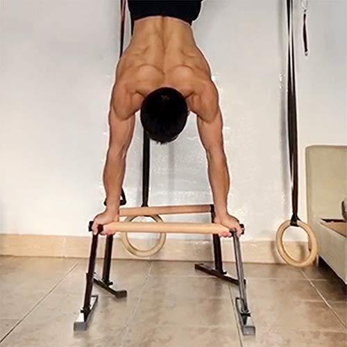 DYJD Push-ups, côte à côte, Barres parallèles en Bois, Gymnastique aérobic Work-Out Handstand Push-ups Fitness 2 Barres parallèles en Bois