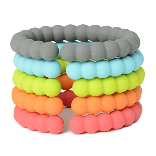 Chewbeads - Baby Silicone Links - Multi Use Baby Toy Rings - Attach Toys