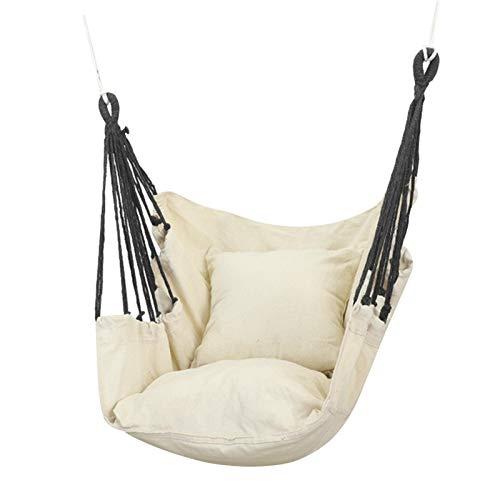 POHOVE amaca sedia a dondolo in corda, grande amaca sedia rimovibile con cuscini per la camera da letto delle ragazze bambini altalena grande patio confortevole