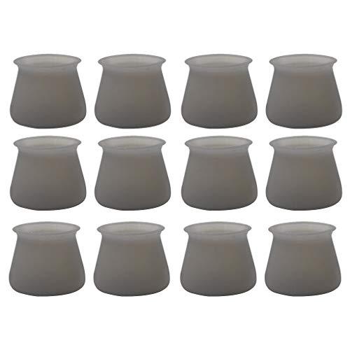 [2/20] Stück Silikon Stuhl, BJJH Abnehmbare Endkappen für Stuhlbeine Rund Parkettschutz Schutzkappen Boden Protektoren (12 Pcs)