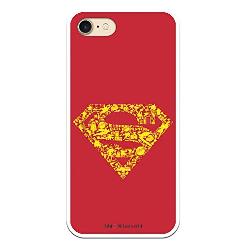 Personalaizer Funda para iPhone 7 - iPhone 8 - SE 2020 DC La Liga de la Justicia (JL Simbolo Superman)