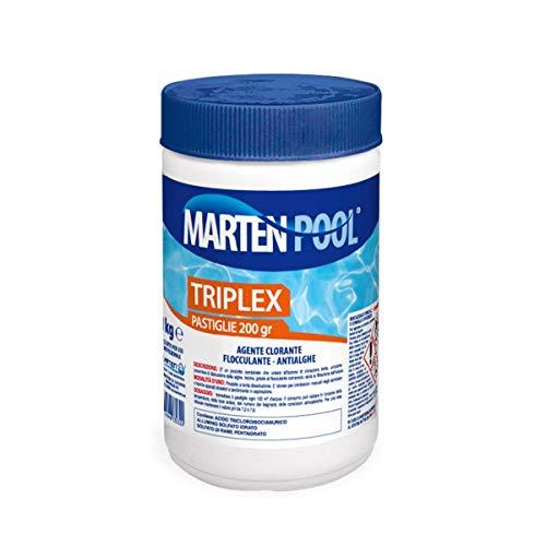 MARTEN Triplex pastiglie 200 – 1kg | Disinfettante clorato a lenta dissoluzione