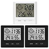 Lyeiaa 3 pack Indoor Digital Thermometer Hygrometer Accurate Room Temperature Gauge Humidity Monitor