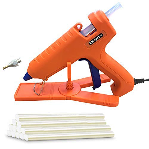 Cléopâtre LOTPOPCMAX-1 Pistolet à colle professionnel - pour Bricolage et Réparations ou Décoration et Artisanat - Inclus 24 recharges, Orange, Maxi