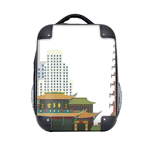 DIYthinker Architektur Qingyang Palace China Muster-harter Fall Schulter Kind-Rucksack-Geschenk 15