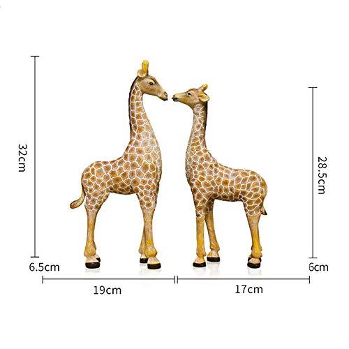 American girafdier decoratie, handwerk creatieve kantoor aan huis winkel Bogu plank raamdecoratie, gepersonaliseerde hars decoratie,A