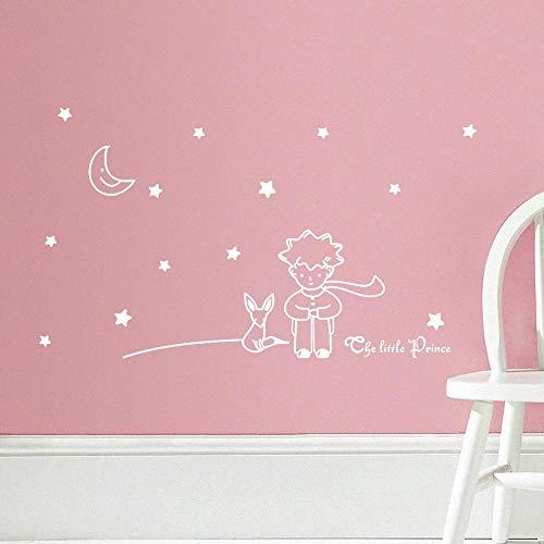 BLOUR Libro Popular Cuento de Hadas el Principito con Fox Moon Star decoración del hogar Pegatina de Pared para Habitaciones de niños Juguete de Regalo de cumpleaños para bebés y niños