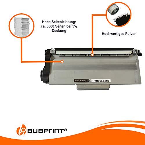 Bubprint Toner kompatibel für Brother TN-3380 TN3380 für DCP-8110DN DCP-8250DN HL-5440D HL-5450DN HL-5450DNT HL-5470DW HL-6180DWT MFC-8510DN Schwarz