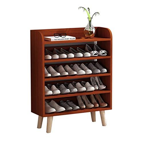 Zapateros Zapatero de cinco pisos Inicio Entrada de múltiples capas Gabinete de zapatos Altura 99 cm Diseño minimalista moderno con capacidad for 16 pares de zapatos (blanco) Armario Organizador