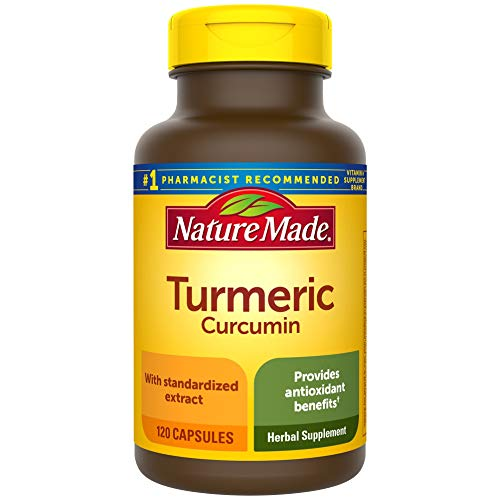 Nature Made Turmeric Curcumin 500 mg Capsules, 120 Count for Antioxidant Support† (Packaging May Vary)