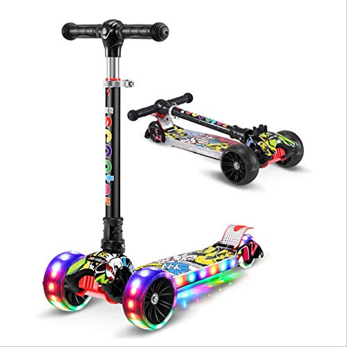 Learn More About Angelica Children's Kick Scooter Folding Aluminum Alloy Skateboard Kids Adjustable ...