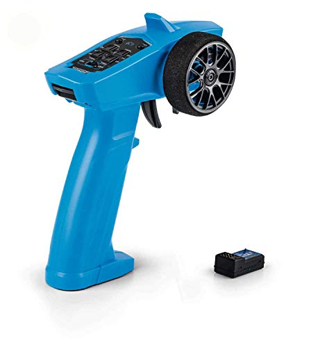 Carson 500500100 - Reflex Wheel Start 2.4G Radio, Modellbau, Zubehör, Fernsteuerung, Empfänger, 3 Kanal, Tamiya KIT kompatibel, blau