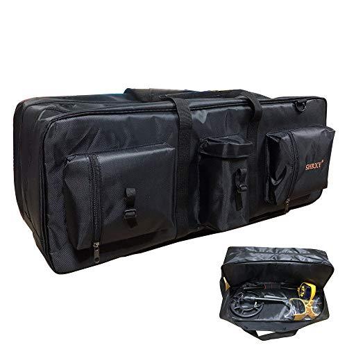shrxy Bolsa de transporte para detector de metales portátil, impermeable, bolsa de almacenamiento de doble capa, mochila organizadora para detectar metales