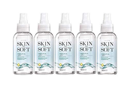 Avon–«Skin so soft» Original aceite seco en spray para cuerpo 150ml–paquete de 5