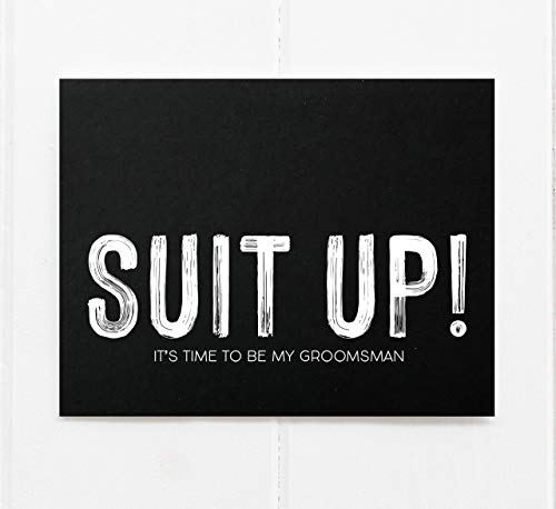 Best Man Suit Up Card, Wedding Proposal Gift for Bridal Party, From Bride and Groom