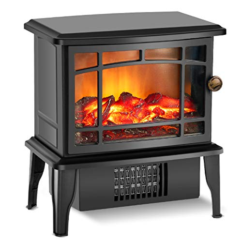 Fireplace Heater - Electric Fireplace Heater with 3s Fast Heating System, 500W Portable Fireplace Heaters for Indoor Use, Quartz Fireplace Heaters with Overheat Tip-Over Protection for bedroom Heater Infrared Space