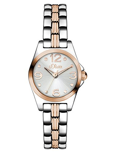s.Oliver Damen-Armbanduhr Color Clash Analog Quarz