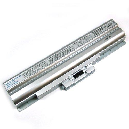 Accu voor Sony Vaio VGN-AW, VGN-BZ, VGN-CS, VGN-FW, VGN-NS, zoals BPS13, BPS21, 4.4Ah, zilver