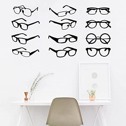 Pegatina de pared para gafas, calcomanía para vitrina, tienda, oficina, decoración de...