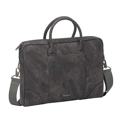 RIVACASE Laptoptasche 13,3-14 Zoll Aktentasche Schultertasche Messenger Bag Satchel Slim Design für Computer Notebook Tablet Unisex / 8922 Grau