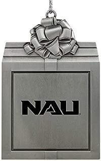 Northern Arizona University -Pewter Christmas Holiday Present Ornament-Silver
