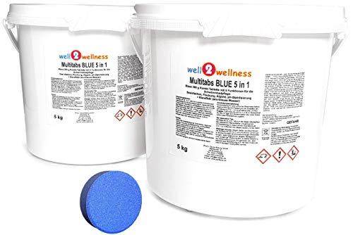 well2wellness Chlor Multitabs Blue 5 in 1 / Blaue Multitabs 5 in 1 200g - 10 kg (2 x 5 kg)