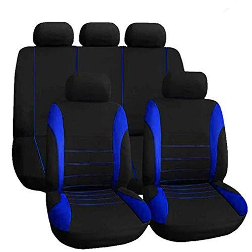 KKmoon Sitzbezüge Auto Set Universal Autositzbezüge Schonbezüge Vordersitze und Rücksitze für alle Autos 9 Stücke Blau