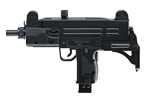 IWI Softair Mini UZI mit Maximum 0.08 Joule Airsoft Pistole, Schwarz, One Size