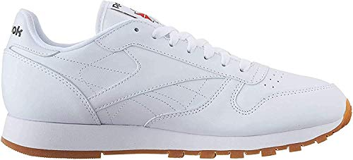 Reebok Men's Classic Leather Casual Sneakers, White/Gum,...