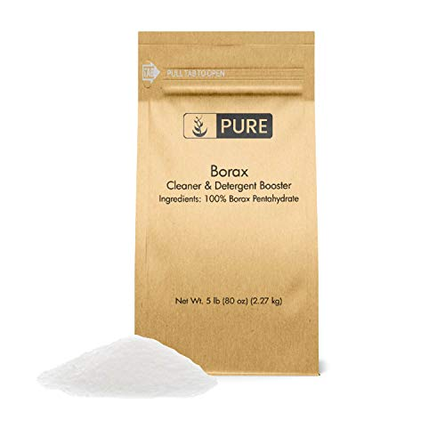 PURE Borax Powder (5 lb.), All-Natural Multipurpose Cleaner, Detergent Booster, Slime Ingredient