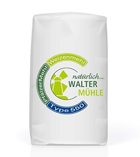 Weizenmehl unbehandelt  Type 550   Walter Mühle   1kg (10 Pack)   Premium Bäckerqualität   Natur Pur