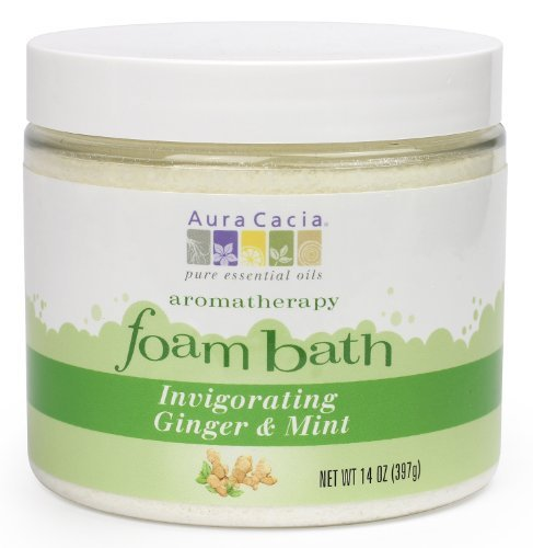 Aura Cacia Invigorating Ginger/Mint, Foam Bath 14-Ounce Jar by Aura Cacia