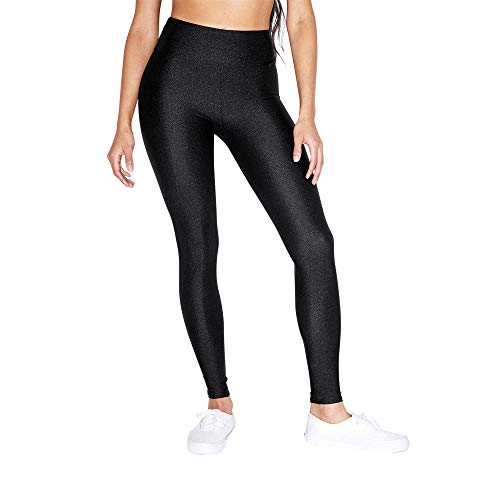 American Apparel Women's Nylon Tricot High Waist Legging, Black, X-Large