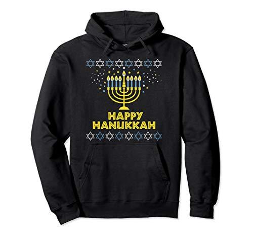 Happy Hanukkah Boys Girls Men Women Gift Fun Pullover Hoodie