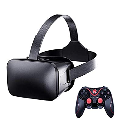 Peyan VR Headset with Remote Controller Virtual Reality Headset 3D Glasses, Anti-Blue-Light Lenses, Stereo Headset, for All Length Below 6.5 inch Include All The IOS And Andriod System Phone