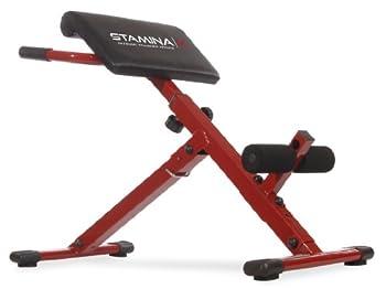 Stamina Hyper Bench Red 39.5  L x 22.25  W x 33.5  H