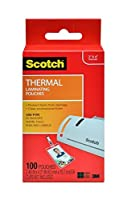 Scotch Thermal Pouches 2.4 x 4.2 Inches ID Badge without Clip 100 Pouches 4-PACK [並行輸入品]