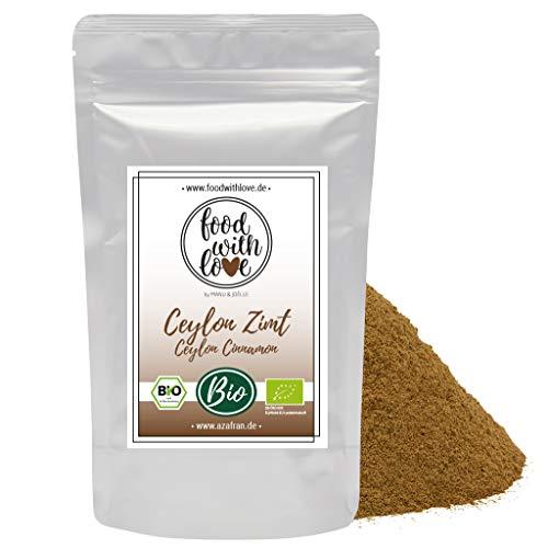 Food with Love BIO Ceylon Zimt gemahlen Zimtpulver mit geringem Cumarin 250g