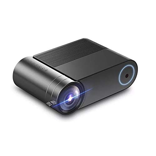 Liuxiaomiao Projector Mini LCD Projector Home Theater Smartphone Zelfde Screen Mirroring LED Projector 2400 Lumens 1920x1080 720P Game Video Beamer voor Smartphone, Tablet, TV Stick, PC, Xbox