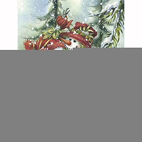 Diamond Painting, Abrazando el muñeco de nieve, Cuadros Diamantes Pintura 5D DIY para Adultos/Niños, Bordado Diamante Punto de Cruz Artes, para Decoración de la Pared del Hogar Square Drill,50x70cm