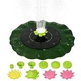 Decdeal - Pompa solare a forma di foglia di loto da 6 V 1 W, a energia solare, per vasca da bagno per uccelli, senza spazzole per piscina, laghetto, giardino, patio, con ugelli a fiore