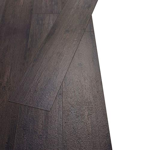 Tidyard Juego de Suelos de Vinilo de PVC 18 Lamas para Cocinas Baños Salones,Imitan la Madera Natural,Resistentes y Antideslizantes,5,26 m² Roble Gris Oscuro