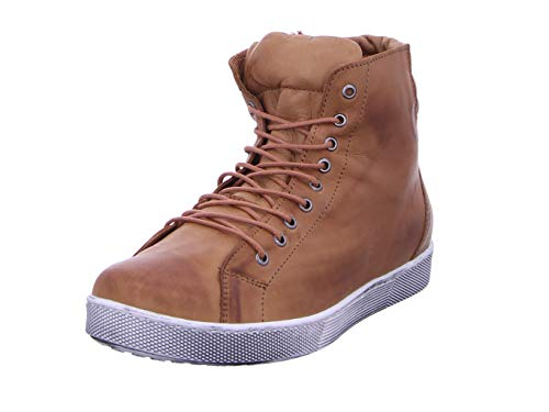 Andrea Conti Damen 0347843 Hohe Sneaker, Braun (Brandy 100), 38 EU