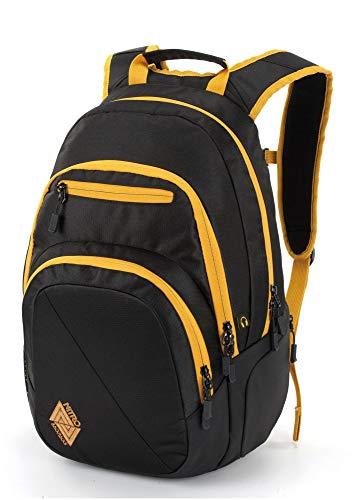 Nitro Stash Rucksack Schulrucksack Schoolbag Daypack Damenrucksack Schultasche schöne Rucksäcke Alltag Fahrradtasche, Golden Black, 29L