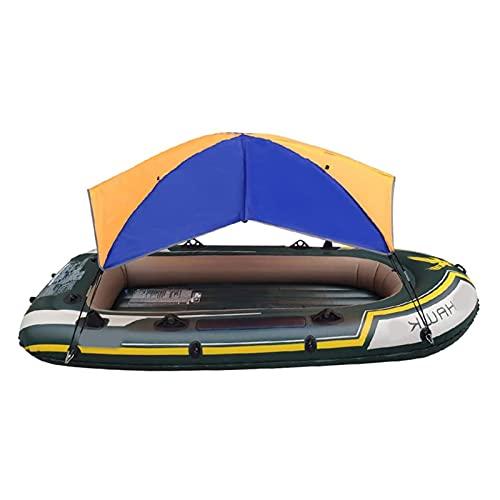 Sun Shade Navege para kayaks / canoas, toldo inflable plegable de la embarcación  Toldo de pesca  Toldo de la lluvia Toldo de bloqueo UV con el paquete de accesorios de instalación (4 personas)