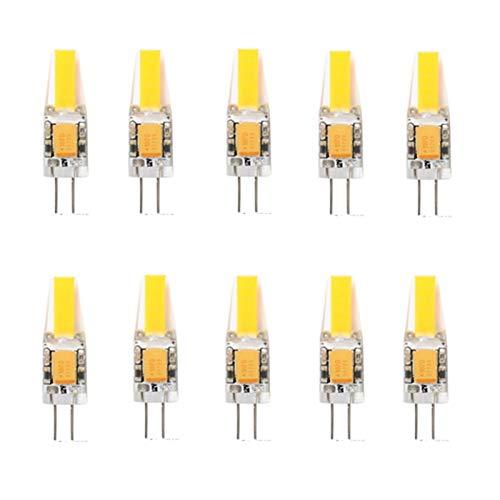 10x G4 Ampoule LED 3W 12V G4 Capsule G4 COB 1505 Downlight Ampoule G4 LED 200-250LM avec La Nouvelle Technologie (Color : Warm White, Size : AC12V)