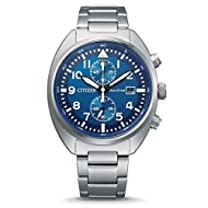 Citizen Men's Chronograph Eco-Drive Watch with Stainless Steel Strap CA7040-85L