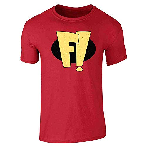 Freak Out Superhero Halloween Costume Red S Graphic Tee T-Shirt for Men