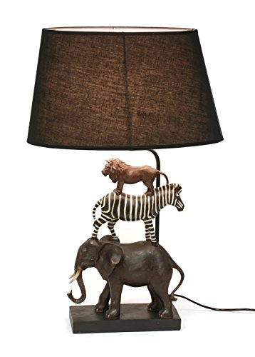Bada Bing Hochwertige Tischlampe Safari Lampe Dekolampe Stehleuchte 69